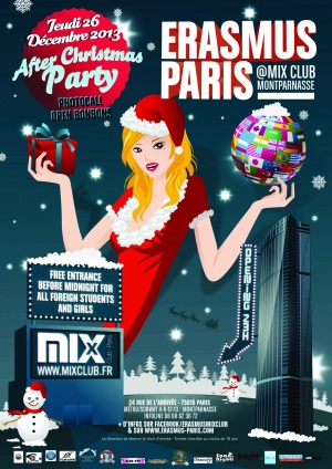 Erasmus Paris : After Christmas Party Poster