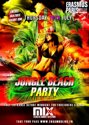 Erasmus Paris : Jungle Beach Party Poster
