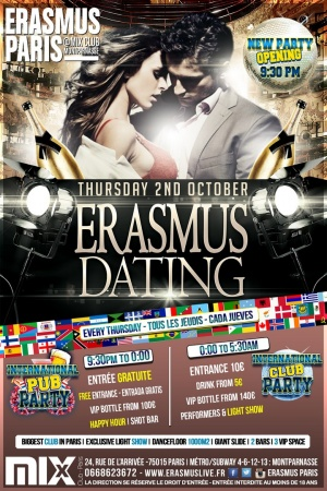 New Party : Erasmus Dating Poster