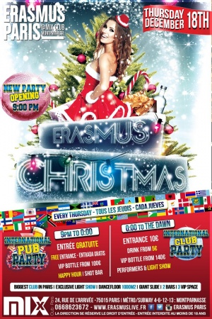 Erasmus Christmas Party Poster