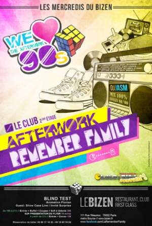 REMEMBER FAMILY 80 90S AFTERWORK Poster