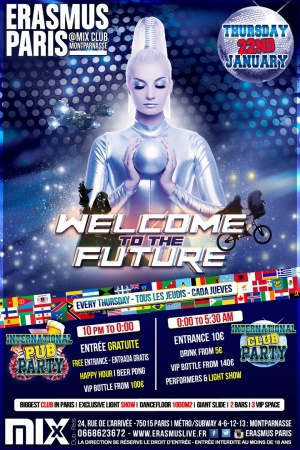 Erasmus Paris : Welcome to the Future Poster