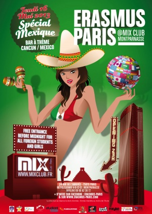 Erasmus Paris : Special Mexique Poster